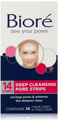 biore deep cleansing strips